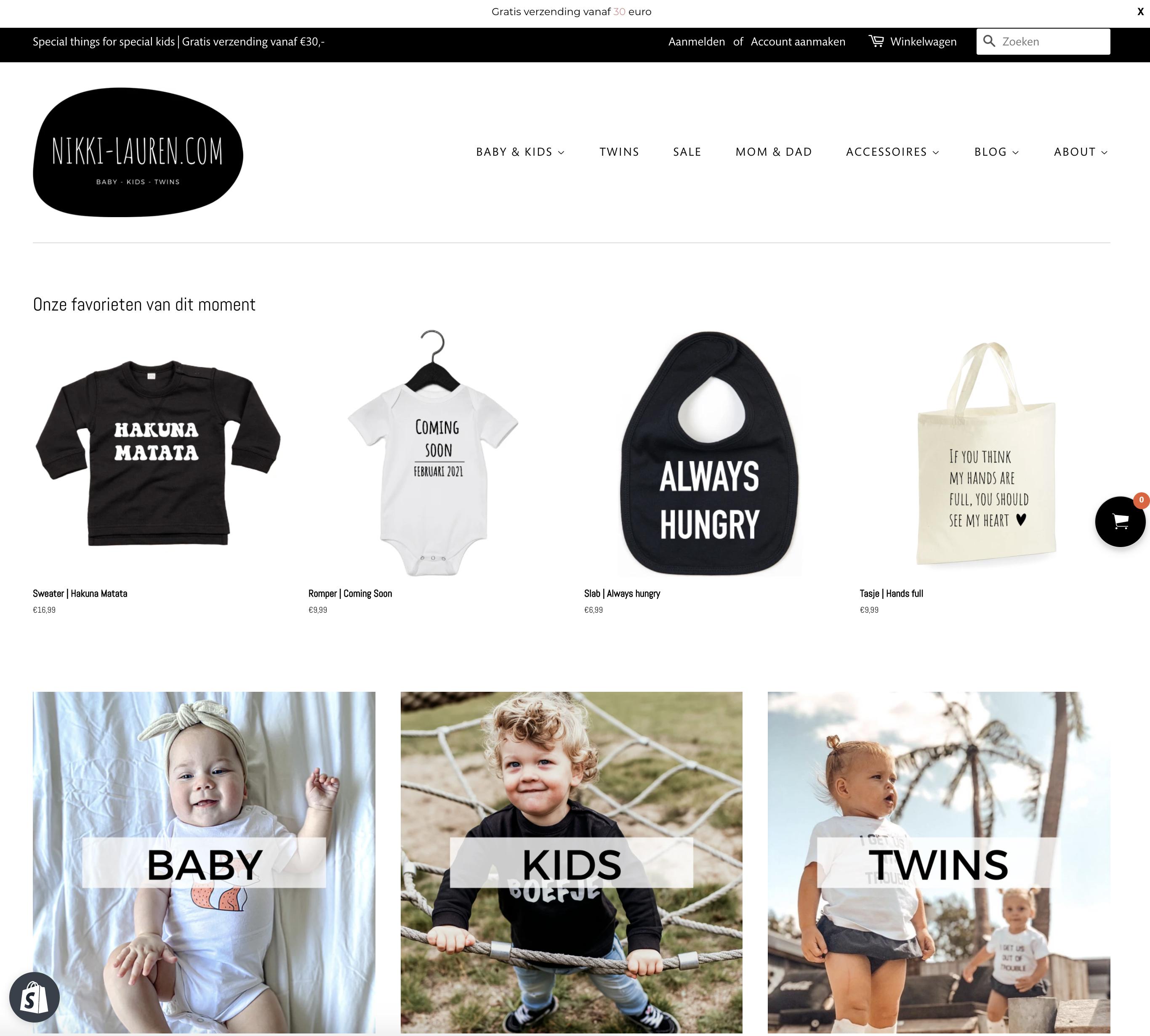 Website ontwerp